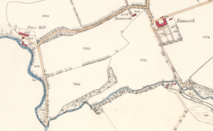 Combined map showing Flax Mills